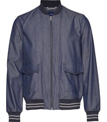 d1. the chambray jacket bomberjack jack blauw gant