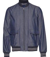 d1. the chambray jacket bomberjack jack blauw gant
