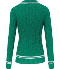 trui met v-hals van looxent groen