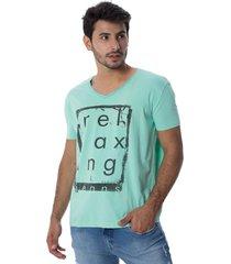 camiseta osmoze 05 gola v lavada 110112773 verde