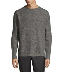 fuzzy crewneck sweatshirt