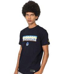 camiseta new era golden state warriors azul-marinho