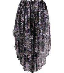 etro paisley-print pull-on skirt - black