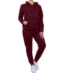 galaxy by harvic women's pullover fleece hoodie with fleece jogger sweatpants 2-piece set