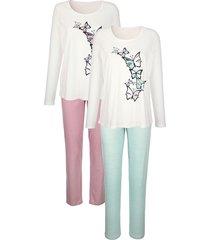 pyjama's per 2 stuks harmony oudroze::jadegroen