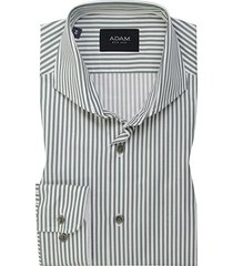 adam est 1916 adam est. 1916 dress overhemd groen/wit gestreept