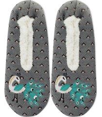 k. bell socks women's faux-fur peacock slippers