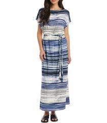 grecian striped maxi dress