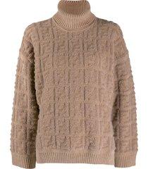 beige ff logo sweater