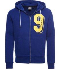 superdry men's college classic zip hoodie