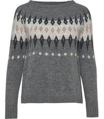 cuclaudia pullover gebreide trui grijs culture