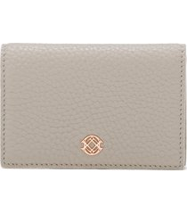 women's dagne dover accordion leather card case - grey