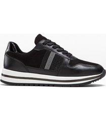 sneaker con plateau larghezza h jana (nero) - jana