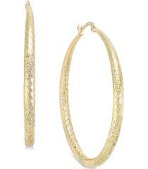 "thalia sodi extra large 2.3"" diamond cut hoop earrings, created for macy's"