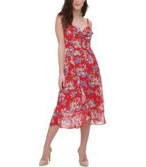 kensie floral-print midi dress