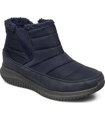 womens ultra flex - shawty shoes boots ankle boots ankle boot - flat blå skechers