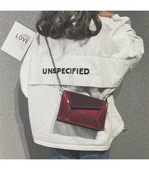 tracolla in pelle verniciata chic donna borsa tracolla in pelle borsa
