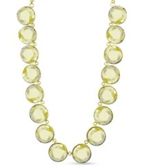 kensie gold-tone circle stone necklace