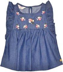 blusa con bordado floral