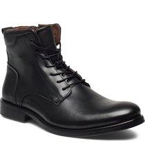608 snörade stövlar svart playboy footwear