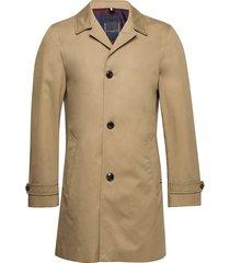 cotton car coat dunne lange jas beige tommy hilfiger tailored