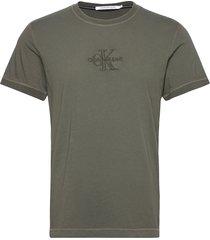 acid wash tee t-shirts short-sleeved calvin klein jeans