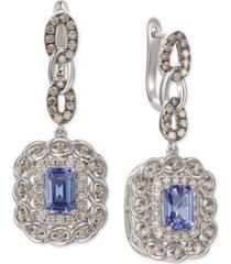 le vian blueberry tanzanite (1-5/8 ct. t.w.) & diamond (1-1/10 ct. t.w.) drop earrings in 14k white gold