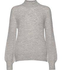 fqhill-pu-balloon stickad tröja grå free/quent