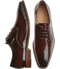 giovacchini tony burgundy plain toe derby dress shoes