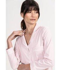 pijama conjunto curto em algodão listrado