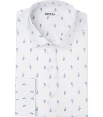 bar iii men's slim-fit performance stretch simple daisy-print dress shirt, created for macy's