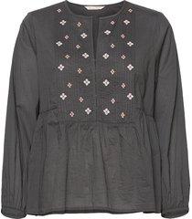 kayla blouse blouse lange mouwen zwart odd molly