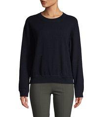 cashmere boxy sweatshirt
