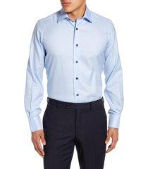 men's david donahue trim fit dress shirt, size 15.5 - 32/33 - blue