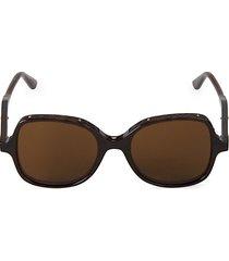 51mm quilted trim square sunglasses