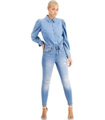 kendall + kyle juniors' high-rise skinny ankle jeans