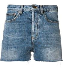 distressed edge shorts