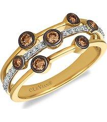 chocolatier® 14k two-tone gold, chocolate diamond® & vanilla diamond® ring
