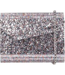 jimmy choo candy clutch in multicolor acrylic