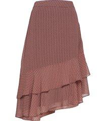 leen skirt knälång kjol röd second female