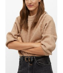 mango women's pearls knitted sweater
