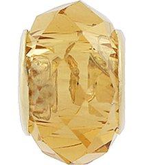 berloque narcizza semijoias murano cristal laranja ouro