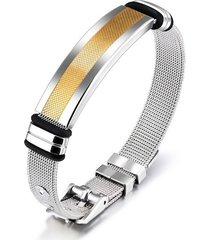 pulsera manilla hombres acero inoxidable 18.5cm 80546
