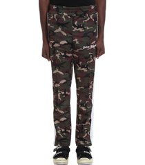 palm angels pants in camouflage polyester