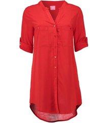 blouse long rood
