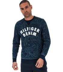 mens paisley print logo sweatshirt