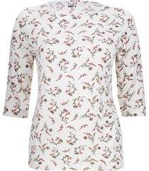 camiseta estampada ramillete flores color blanco, talla 1xl