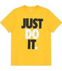 camiseta amarillo-blanco-negro nike nsw jdi hbr university gold
