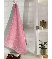 toalha de banho dohler jacquard premium, liso, rosa - 6793