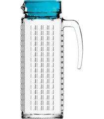 jarra de vidro sture mã³veis ladrilhos com tampa azul para suco 1,2 litros - azul - dafiti